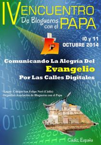 blogueros con el Papa en Cádiz
