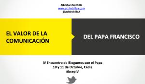 presentación Blogueros con el Papa en Cádiz